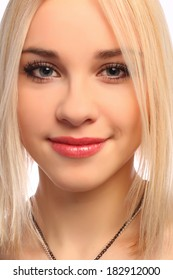 Young attractive blonde girl portrait
