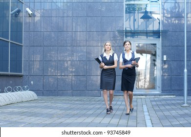 Young attractive business women