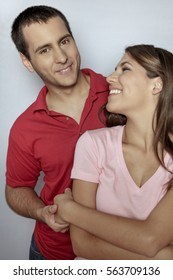 Young attractive couple in love portrait