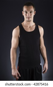 young attractive fitness trainer