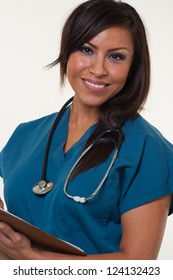 Young attractive native american medical professional