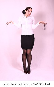 young attractive secretary