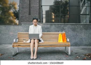 Amazing Street Wooden Bench Images Stock Photos Vectors Machost Co Dining Chair Design Ideas Machostcouk