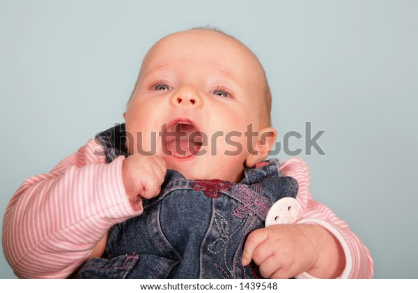 Young baby in studio