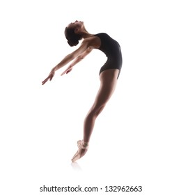 Young balet dancer isolated on white background