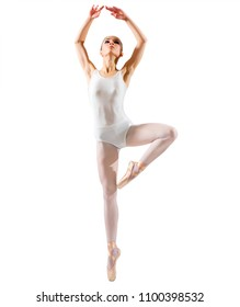 Young ballerina (isolated on white ver)