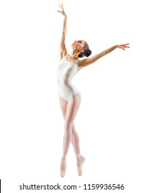 Young ballerina isolated on white