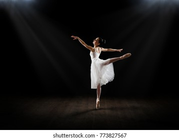 Young ballerina (on hall version)