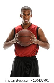 Young Basketball player holding a ball