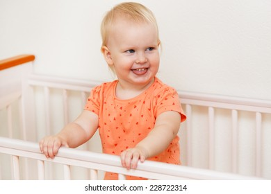 Young, beautiful. Adorable child at home