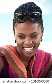 Young and beautiful African woman portrait, Botswana