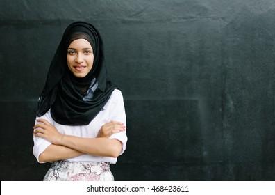 Young beautiful asian muslim woman.