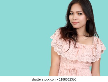 young beautiful asian woman and her fashion in studio