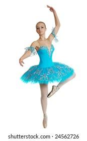 young beautiful ballerina in tutu