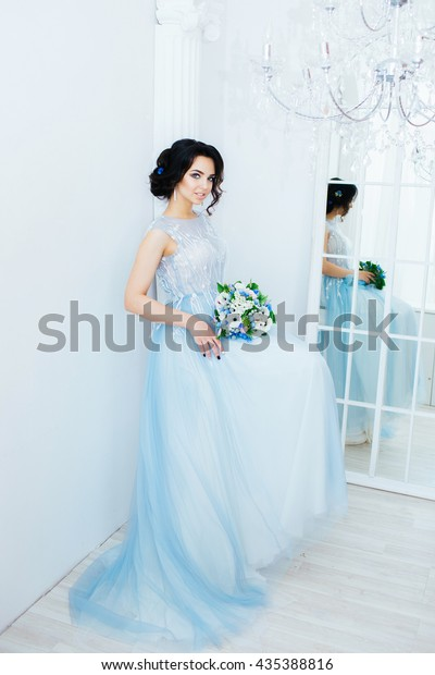 Young Beautiful Bride Wedding Dress Colors Stock Photo Edit Now