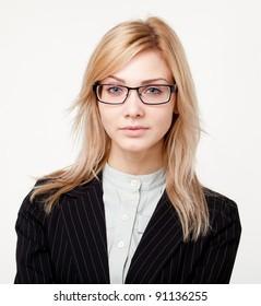 Young beautiful businesswoman
