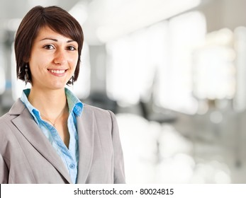 Young beautiful businesswoman portrait