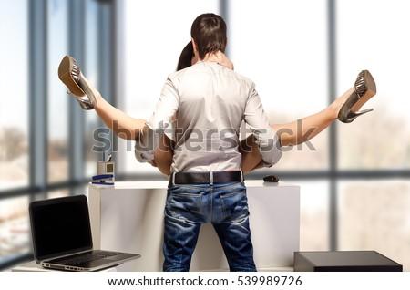 Young Beautiful Couple Having Sex Office Stockfoto Jetzt Bearbeiten