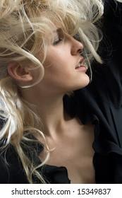 young beautiful fashion woman,studio shoot