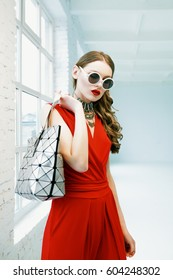 de8493f6ec Fashion Woman Red Stock Photos, Images & Photography | Shutterstock