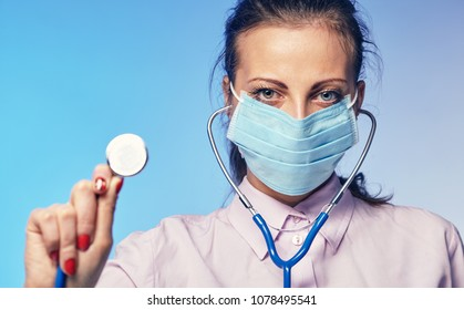 Young beautiful female doctor Health, medicine, disease, treatment concept