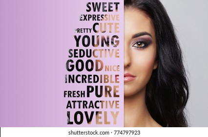 Young, beautiful and fresh woman in plastic surgery, beauty and cosmetics and medicine concept.
