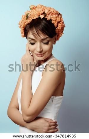 Young beautiful girl in
