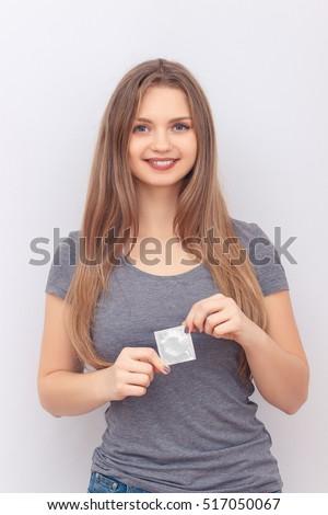 condom Girl holding