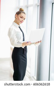 Young beautiful girl, office worker