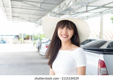 Young beautiful girl smiling and relaxing