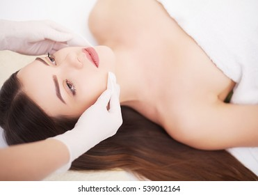 Young beautiful lady getting spa treatment
