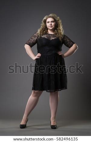 Young Beautiful Plus Size Model Black Stock Photo (Edit Now ... 2a5d9d9eb