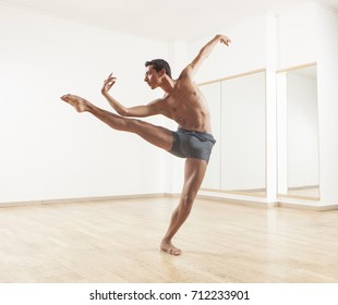 young and beautiful professional ballet dancer performing