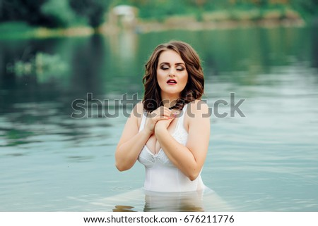 69e1b2f36 Young Beautiful Sexy Plus Size Model Stock Photo (Edit Now ...