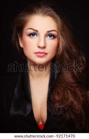 107c04393 Young Beautiful Sexy Plussize Woman Long Stock Photo (Edit Now ...