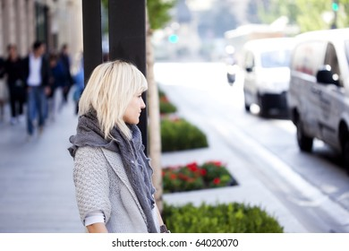 Young beautiful urban girl on the street