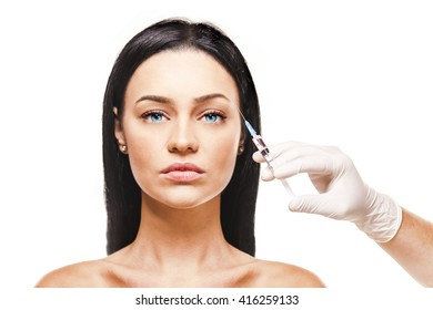 young beautiful woman, facial treatment