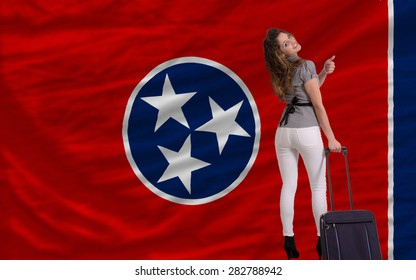 young beautiful woman is traveling to tennessee