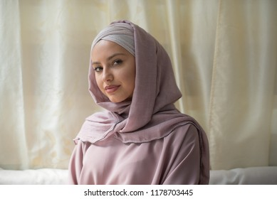 young beautiful woman wearing hijab