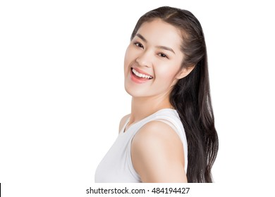 Young beauty Asian woman with healthy skin care concept.