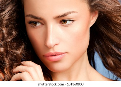 young beauty close up portrait