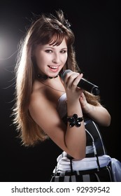 Young beauty singer girl