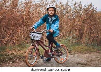 Young biker in a walk