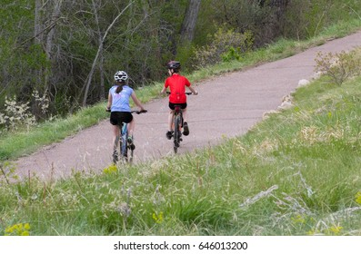 Young bikers on the path