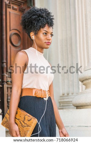 Young Black Female Teacher Afro Hairstyle Stock Photo Edit Now