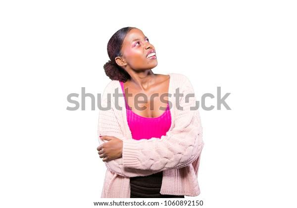 young black girl making facial expressions