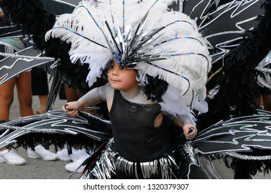 Young black and white boy King of the Band at the Junior Caribana Parade in Toronto, Ontario, Canada - July 19, 2008