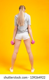 young blonde fitness woman