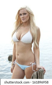 blonde girl in a bikini