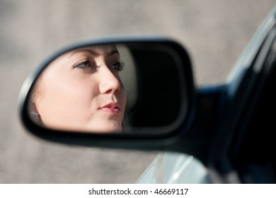 young blonde women driver